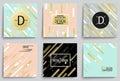 Set of elegant banner templates. Royalty Free Stock Photo