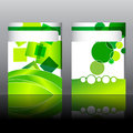 Set of elegant, green flyer design Royalty Free Stock Images