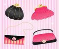 Set of elegant handbags. Royalty Free Stock Photography