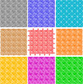 Set of elegant retro seamless patterns Stock Photos
