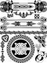Set of elements of design in celtic style a vector Royalty Free Stock Photography