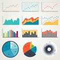 Set of elements for infographics, charts, graphs, diagrams. In color. Vector illustrations Royalty Free Stock Photo