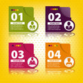 Set of elements for infographics in the form cards Royalty Free Stock Photos