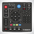 Set of elements for remote control of the tv and audio devices Royalty Free Stock Photography