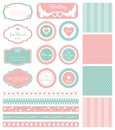 Set of elements for wedding design and patterns Stock Photo