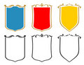 Set of emblems, crests and shields. JPG, EPS Stock Image