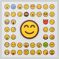 Set of emoticon vector  on white background. Emoji vector. Smile icon collection. Royalty Free Stock Photo