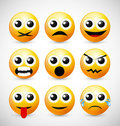 Set of Emoticons Stock Photos