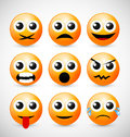 Set of Emoticons Royalty Free Stock Photography