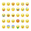 Royalty Free Stock Photo Set of emoticons, emoji  on