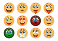 Set of Emoticons. Set of Emoji. Smile icons.