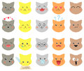 Set of emotions cat Stock Image