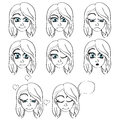 Set of emotions vector illustration Royalty Free Stock Images