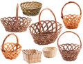 Set of empty  basket Royalty Free Stock Photos