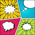 Set of empty speech bubbles in pop art style. Vector illustration