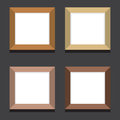 Set Of Empty Square Picture Frames On Black Background Royalty Free Stock Photo