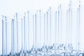 Set of empty test lab tubes on stand Royalty Free Stock Photo