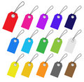 Set of empty vector tags. Stock Image