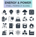 Set of energy and power icons.