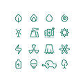 Set of energy sources line icons. Vector alternative energy pictograms Royalty Free Stock Photo