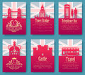 Set of England country ornament illustration concept. Art traditional, poster, book, poster, abstract, ottoman motifs Royalty Free Stock Photo
