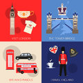 Set of England travel compositions with place for text. Visit London, The Tower Bridge, Britain Symbols, Travel England