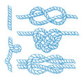 Set of engraved knots and ropes