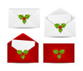Set of envelope icons christmas Stock Images