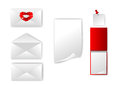 Set of envelope and paper Royalty Free Stock Photography