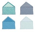 Set of envelopes stylized striped Royalty Free Stock Image
