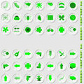 Set of environmental icons abstract vector illustration Royalty Free Stock Photos