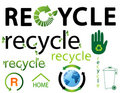 Set of environmental recycling icons Royalty Free Stock Image