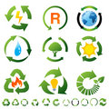 Set of environmental recycling icons Stock Image