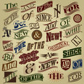 Set of Essential Retro Calligraphic Designs Royalty Free Stock Photography