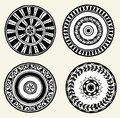 Set of ethnic doodle dishes hand drawn Royalty Free Stock Photography