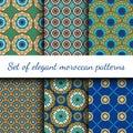 Set of ethnic geometrical pattern