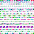 Set of ethnic motifs with multicolored elements pattern including Stock Photography