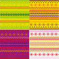 Set of ethnic pattern texture Royalty Free Stock Photos