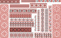 Set of Ethnic Patterns for Embroidery Stitch Royalty Free Stock Photo