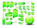 Set etiketter för eco Arkivfoton