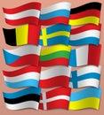 Set Europe flags. Europe. Vector.