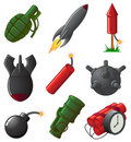 Set of Explosive Icons Stock Photos