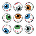 Set of eyeball symbols Stock Photography