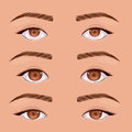 Set eyes human pop art Royalty Free Stock Photo
