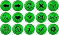 Set för internet för webbläsareknappar grön Royaltyfri Fotografi