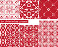 Set of fabric textures with different lattices seamless patter patterns abstract Stock Photos