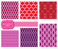 Set of fabric textures - seamless pattern Stock Photo