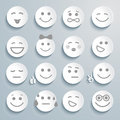 Set of faces with various emotion expressions image for design Royalty Free Stock Image