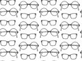 Set of fashionable glasses silhouettes Stock Photos