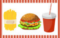 Set of fast food Stock Photo